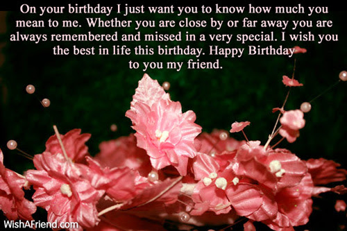 Birthday Wishes For Far Away Friend Life Quotes T Happy
