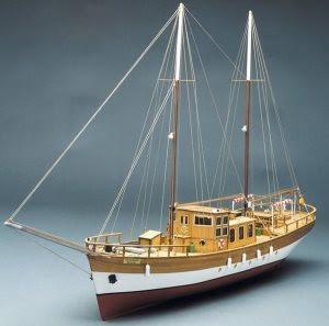 Mantua Trotamares. Sailing Motor Yacht 1:43 Titanic Cornwall Model