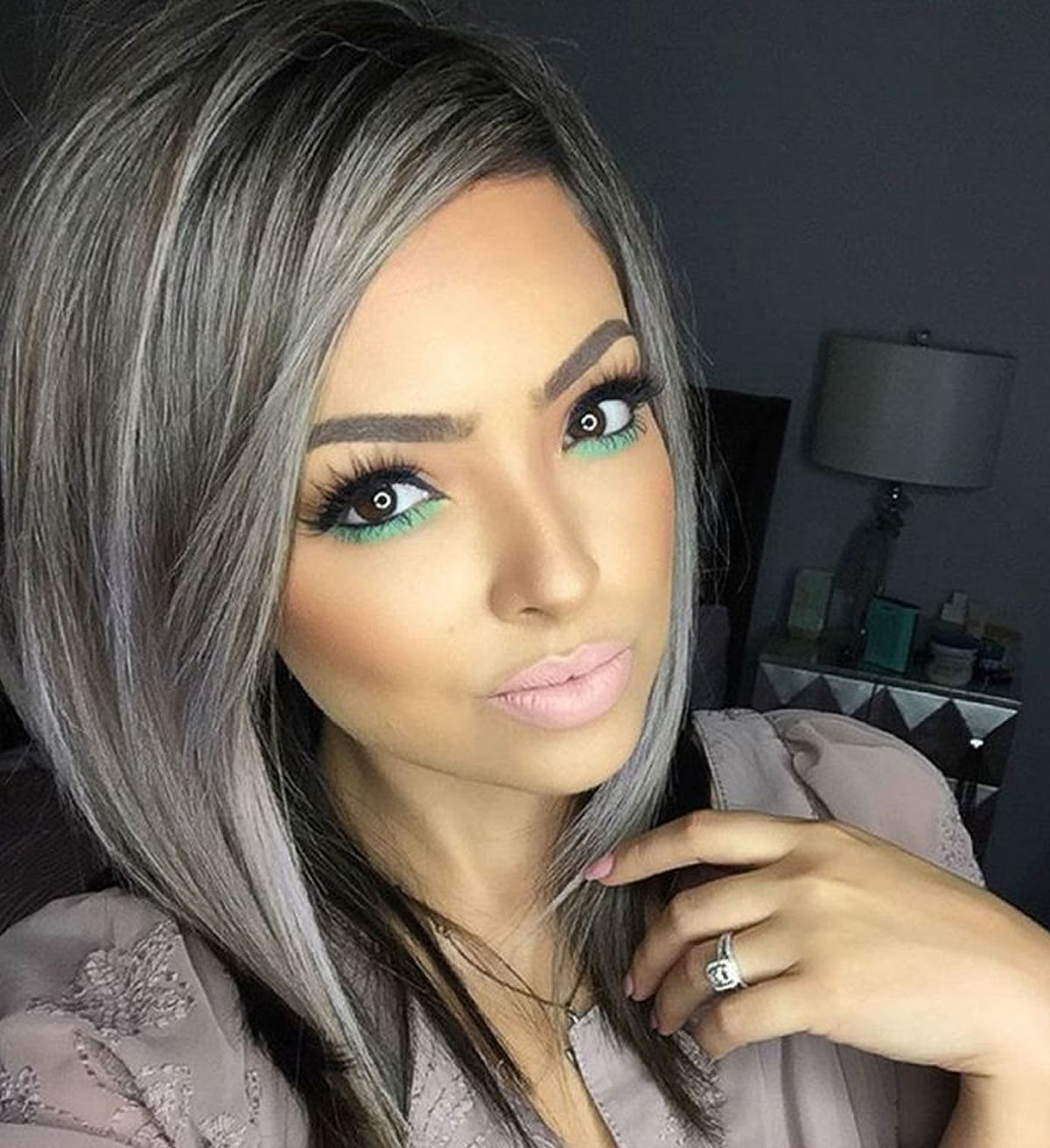 Gray hair color ideas 20182019 : Long Hair Tutorial