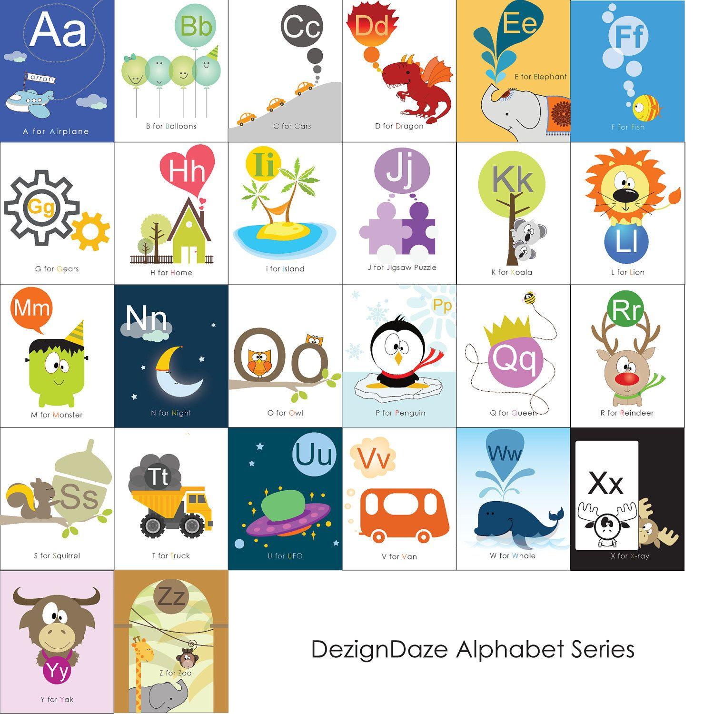 Printable Alphabet Art - all 26 alphabets - 4x6 or 5.5x8.5 ...