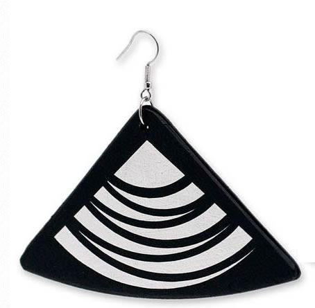 recycled record earrings