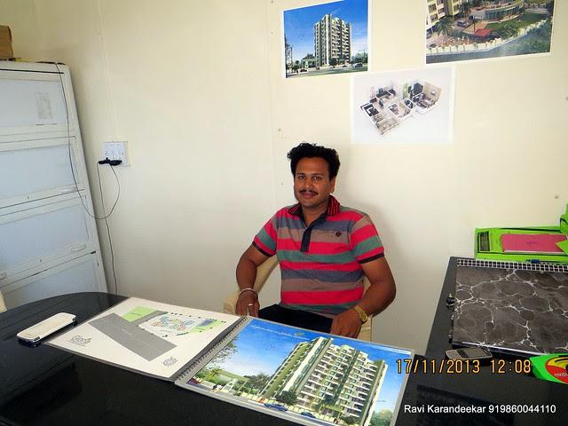 "Mr. Anand Penkar, Sales Executive, Amit Rujuta Ventures' ""Gloria"" 1 BHK 1.5 BHK 2 BHK Flats at Nande near Hinjewadi on Pirangut Nande  Road Taluka Mulshi District Pune 412115"
