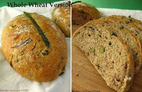Asparagus bread - whole wheat version +