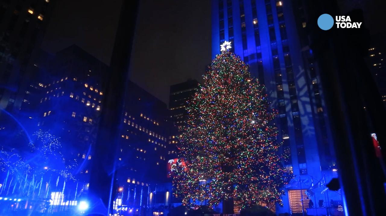 The Rockefeller Center Christmas Tree Lights Up