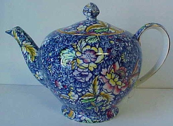 Royal Winton Blue Anemone Chintz Teapot Tea Pot Great | eBay