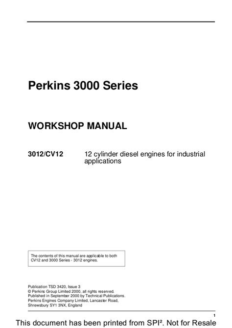 PERKINS 3000 SERIES 3012 CV12 12 CYLINDER DIESEL ENGINE