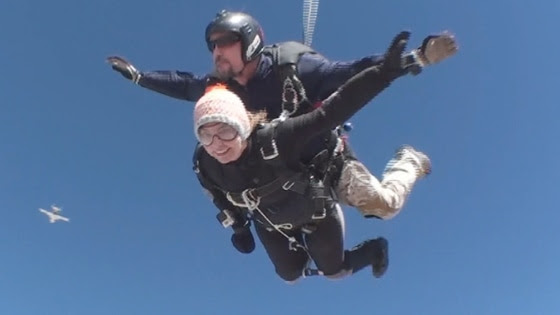 Gabrielle Giffords marks the three-year anniversary of an attack that left her severely wounded and forced her to resign from Congress by skydiving.