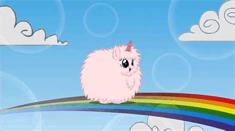 pink fluffy unicorns dancing  rainbows fluffle puff