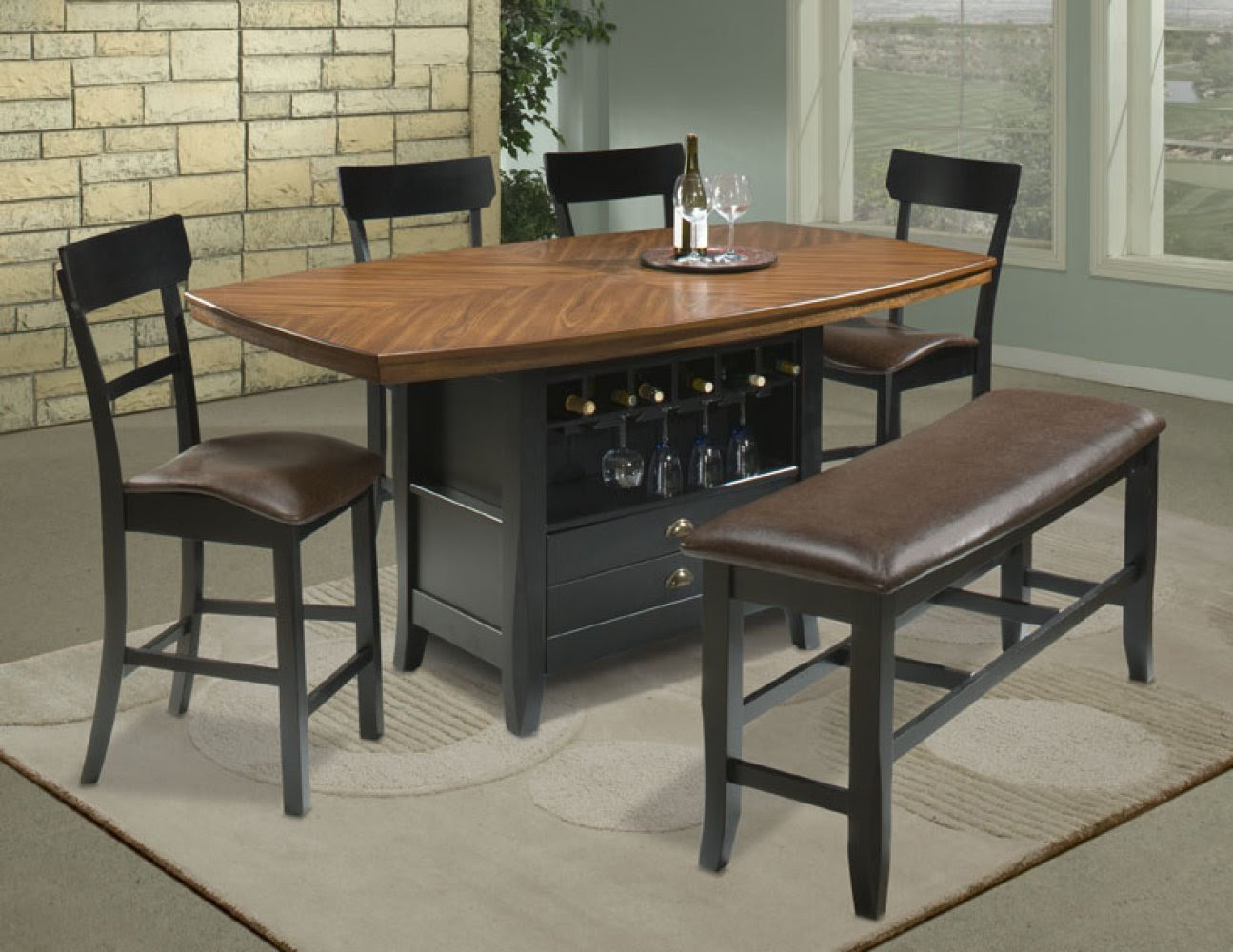 BAR HEIGHT DINING TABLE AND CHAIRS | Chair Pads & Cushions