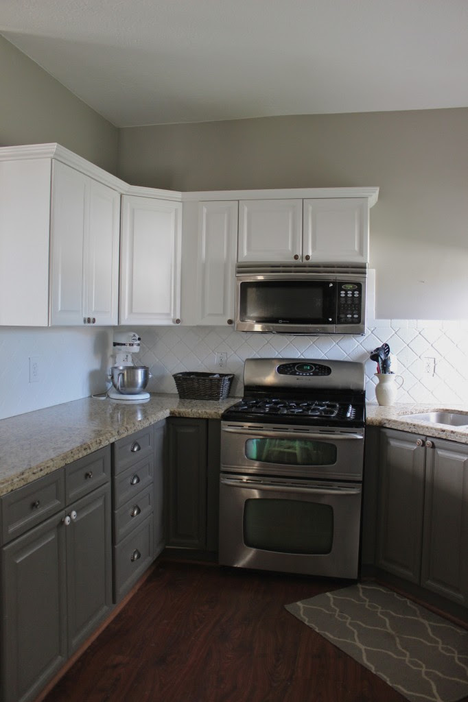 Painted Kitchen Cabinets and Backsplash - Slipcovers by ...