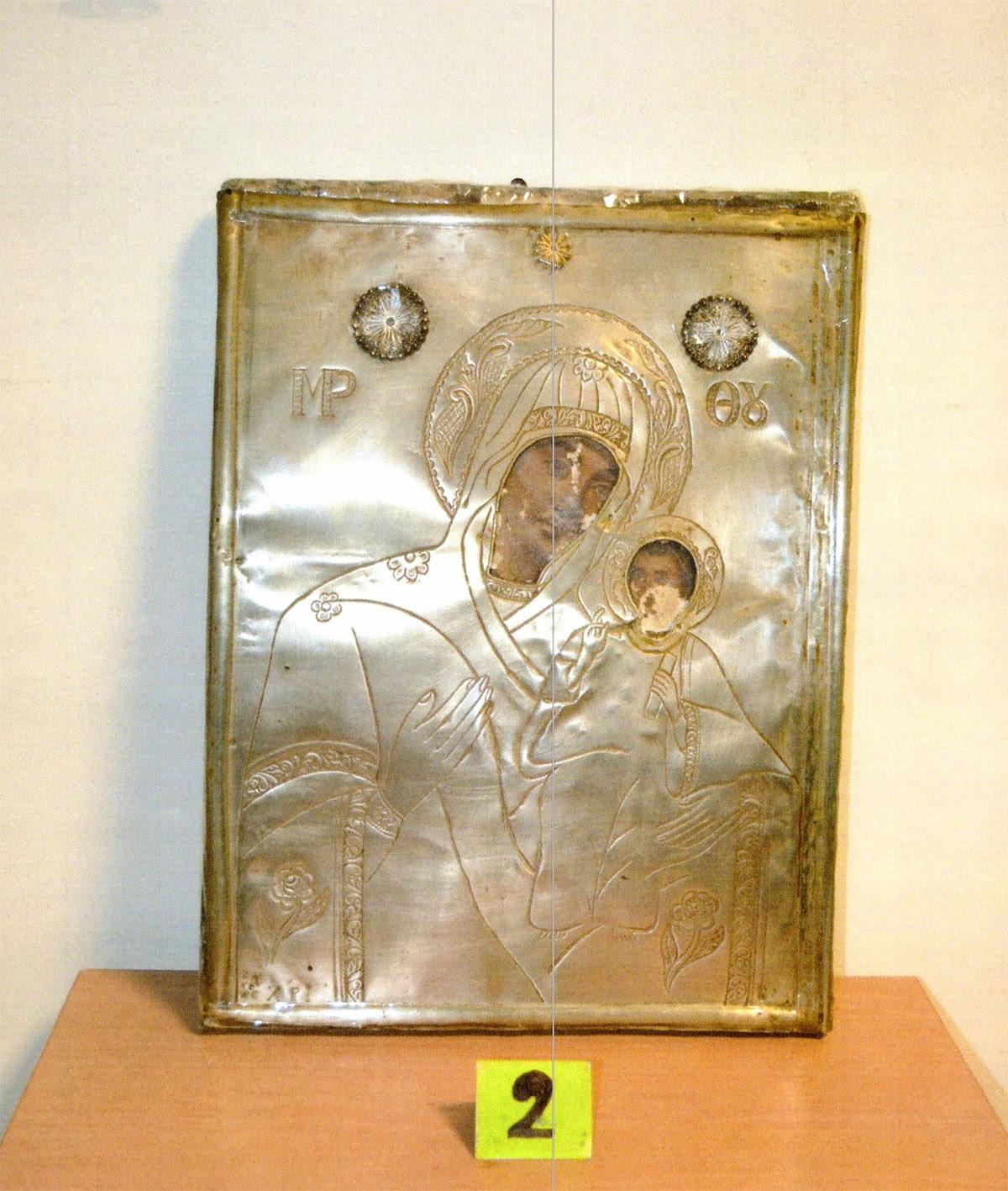 Εικόνα που βρέθηκε και κατασχέθηκε στα Ιωάννινα (φωτ. Ελληνική Αστυνομία).