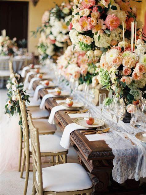 Fabulous Long Wedding Reception Tables   crazyforus