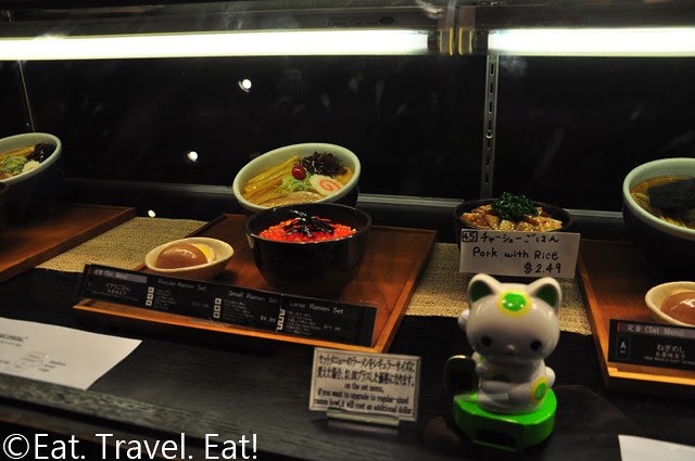 Santouka Ramen Costa Mesa Fortune Cat + Food Display