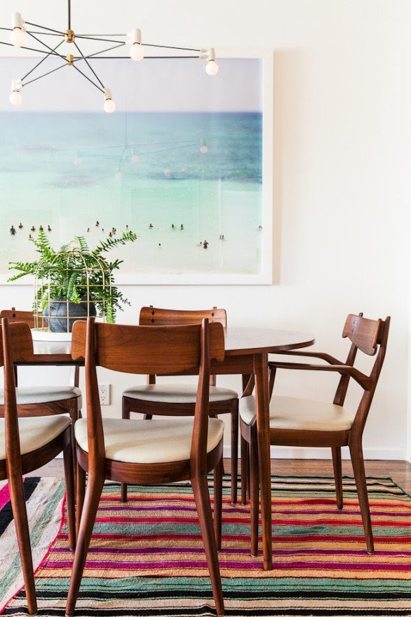 Max Wanger photo, mid-century modern dining table
