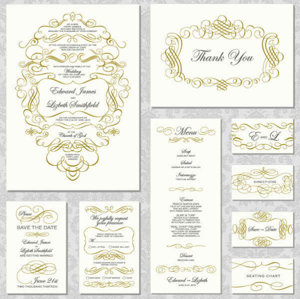 フリー素材 ゴールドの飾りフレームが美しいメッセージカード