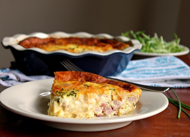 Kitchen snaps ham cheese and onion crustless quiche for Quiche not setting