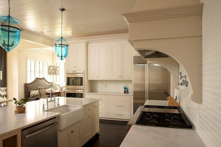 Kitchen Beadboard Ceiling - Transitional - kitchen - Twin ...