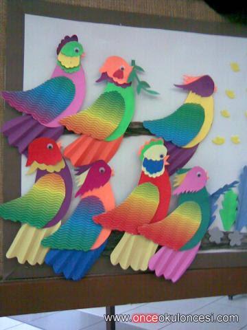 Papağan Boyama Okul öncesi