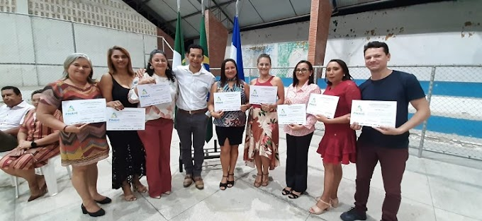 João Câmara: SMEC entrega certificados do programa Escola da Terra e PNAIC