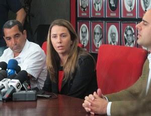Zinho, Patricia Amorim e Rafael de Piro (Foto: Janir Junior /  Globoesporte.com)