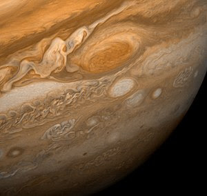 The Great Red Spot as seen from Voyager 1 This...