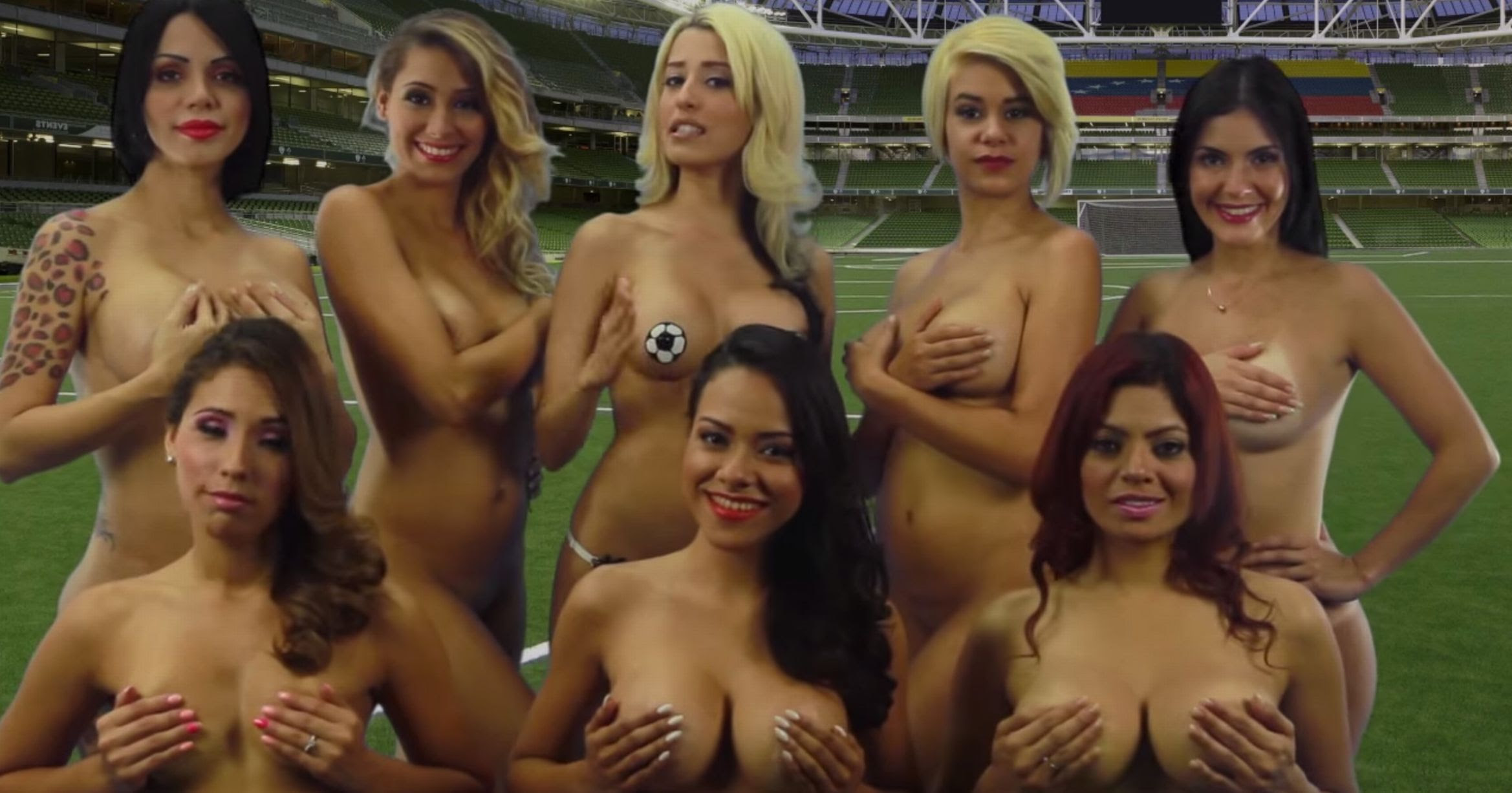Venezuelan women make a motivational video for their team for the Copa America