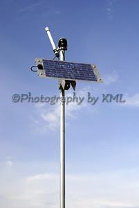 a solar panel against a blue sky