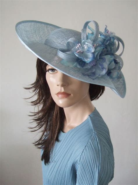 Cornflower Blue Wavy Sinamay Hat from Dress 2 Impress Hat