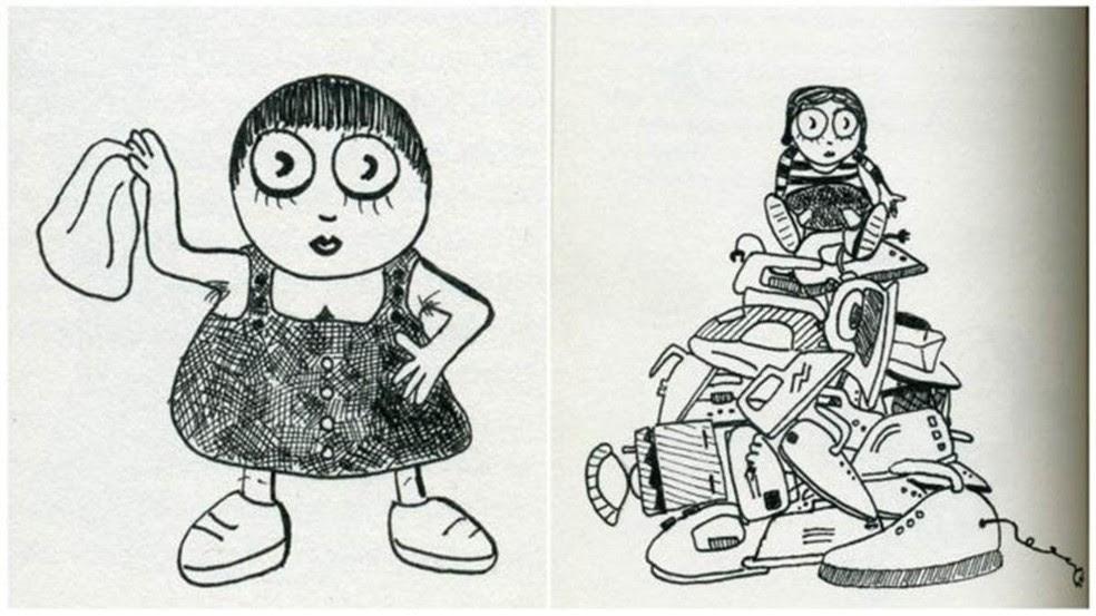 Ilustrações do livro 'Comunismo para Crianças'; obra fala sobre doutrina em linguagem simples e desenhos de 'pequenas revolucionárias vivenciando seu despertar político' (Foto: Divulgação/MIT Press)