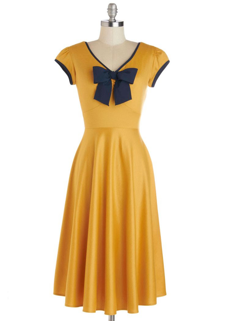 All That and Demure Dress in Daffodil, #ModCloth