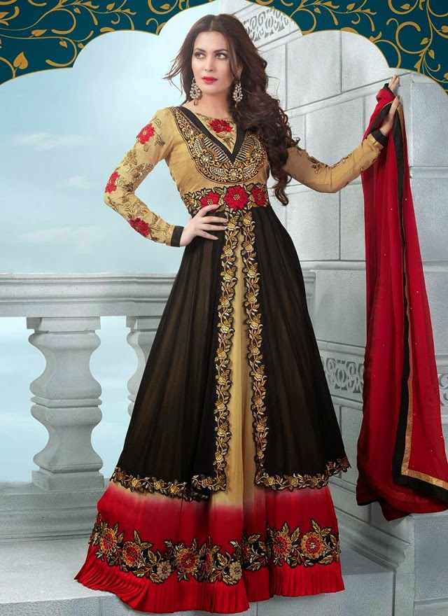 Indian Bollywood Floor Length Anarkali Frock Suits New