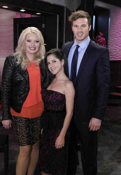 Melissa Peterman, Kelly Monaco and Derek Theler