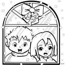 Dibujos Para Colorear La Ventana De Navidad Eshellokidscom
