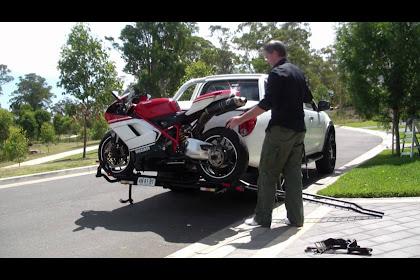 Black Widow Steel Motorcycle Carrier 500 Lb Capacity