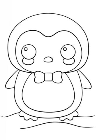 Disegno Di Pinguino Kawaii Da Colorare Disegni Da Colorare E