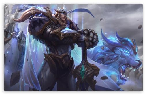 God King Garen Lol Splash Art League Of Legends Ultra Hd