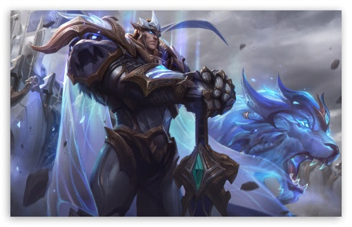 God King Garen Lol Splash Art League Of Legends Uhd Desktop