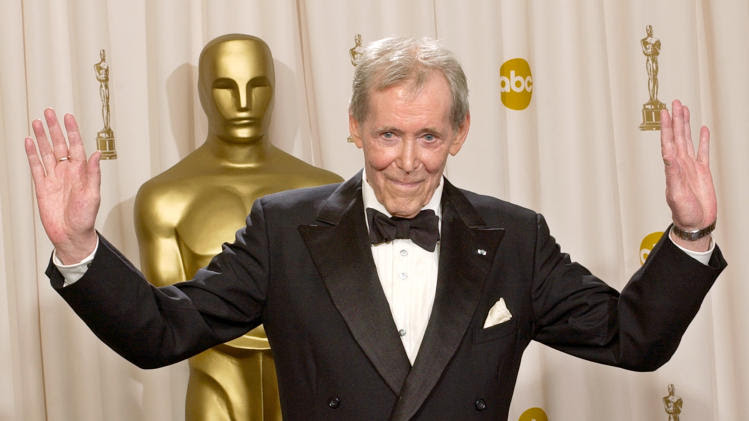 FILE - In this March 23, 2003 file photo, Peter O'Toole appears backstage without his Oscar after receiving the Academy Award's Honorary Award during the 75th annual Academy Awards in Los Angeles. O'Toole, the charismatic actor who achieved instant stardom as Lawrence of Arabia and was nominated eight times for an Academy Award, has died. He was 81. O'Toole's agent Steve Kenis says the actor died Saturday, Dec. 14, 2013 at a hospital following a long illness. (AP Photo/Reed Saxon)