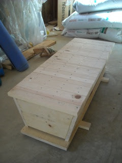 Homemade Top Bar Bee Hive with All Top Bars in Place