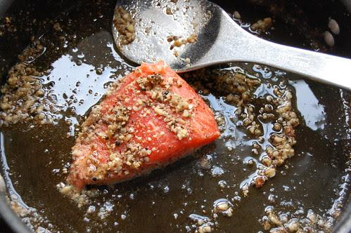 spiced sous-vide salmon