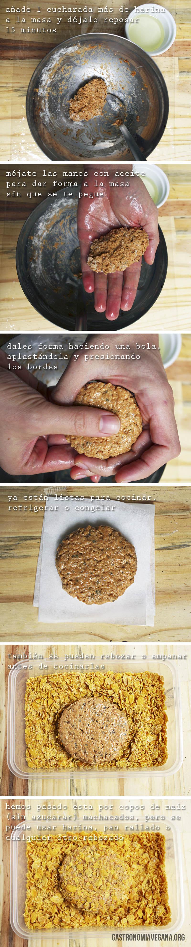 Tutorial para hacer hamburguesas veganas a mano