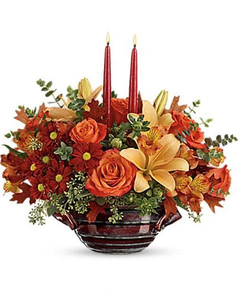 Teleflora Autumn Gathering Centerpiece