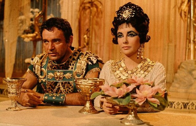 The look of love: Elizabeth Taylor and Richard Burton in the 1963 film Cleopatra