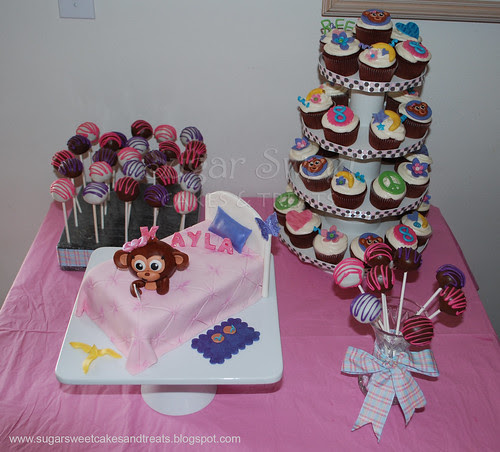 Justice for Girls Monkey Themed Dessert Table