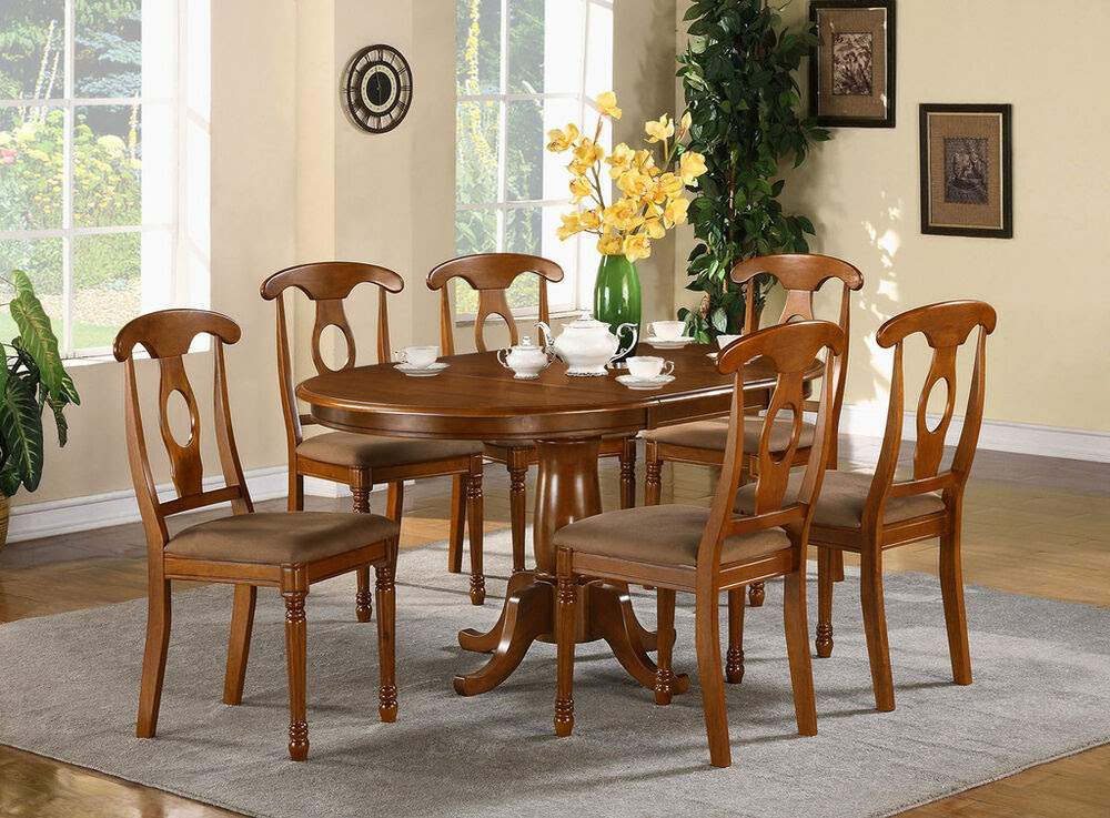 5-PC OVAL DINETTE DINING ROOM SET TABLE AND 4 CHAIRS | eBay