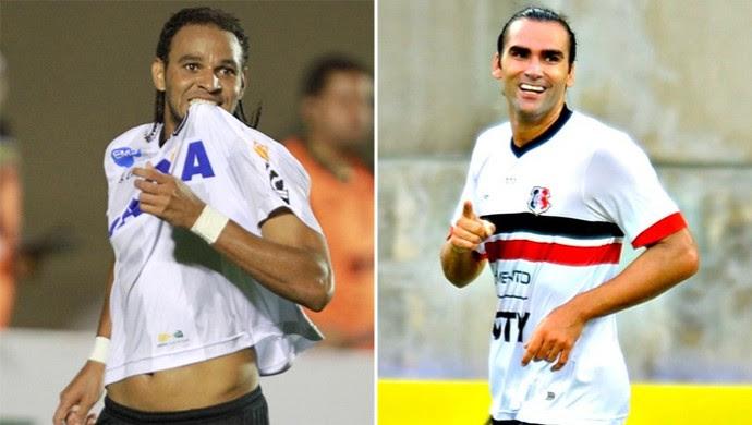 Dênis Marques e Léo Gamalho (Foto: Editoria de Arte)
