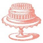 Free Vintage Images – Cake on Cake Plate