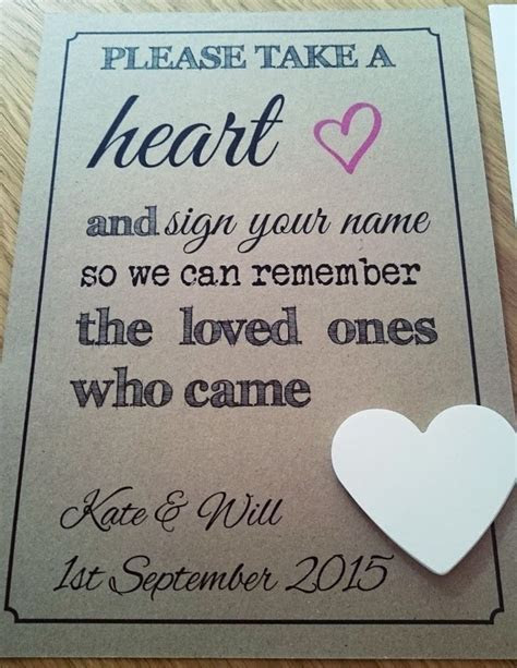 Details about Wedding Personalised Guest Book Drop Box