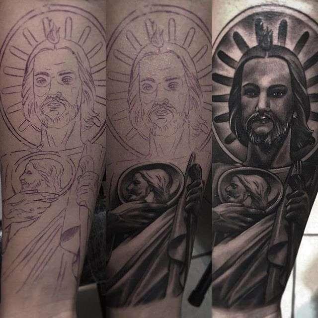 Tatuajes De San Judas Tadeo Blanco Y Negro Fotos De Amor