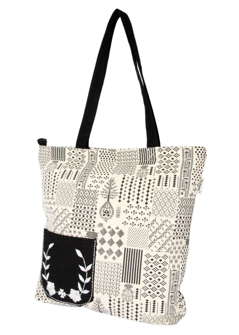 Buy Pick Pocket Canvas Stylish Tote Bags Online Best Prices In